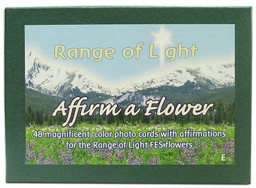 Jeu de 48 cartes des élixirs californiens FES Range of Light - Affirm a Flower - en Anglais