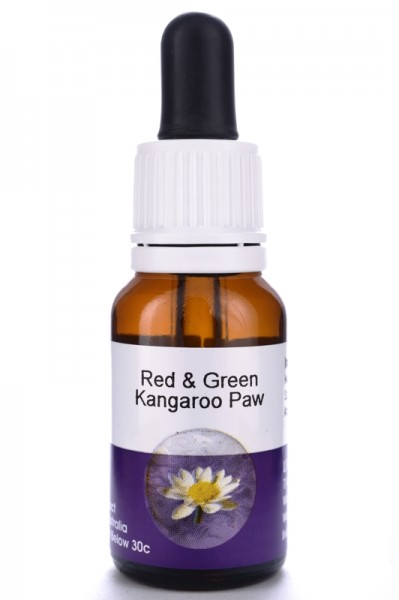 Living Essences Red and Green Kangaroo Paw 15ml MHD 09.2021