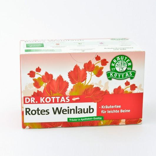 Dr. Kottas Rotes Weinlaub mit Pfefferminze Filterbeutel 20St.